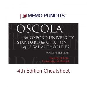 cheatsheet for 4th edition oscola citation method