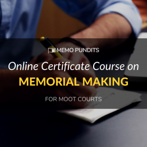Online memorial making course memo pundits moot court