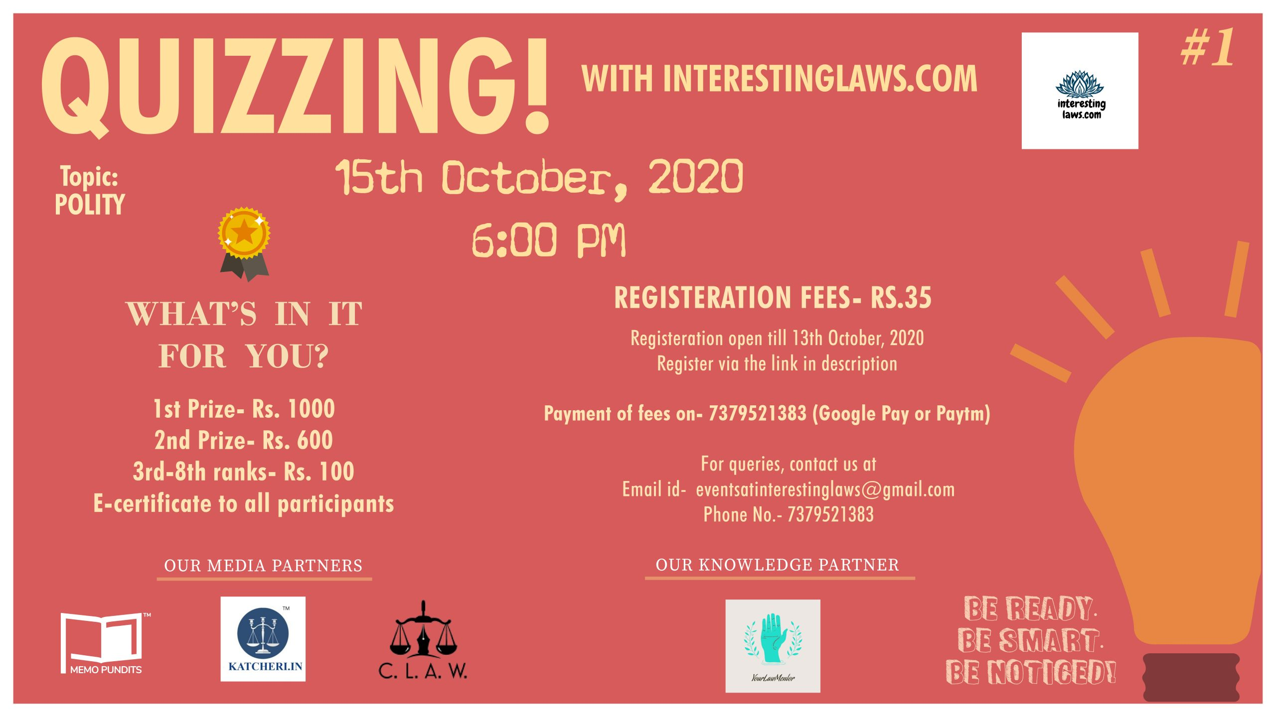 """Online Quiz Competition: """"Polity"""" by InterestingLaws.com"""