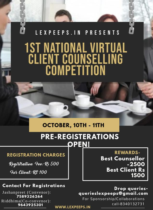 National Client Counselling Competition by Lexpeeps'