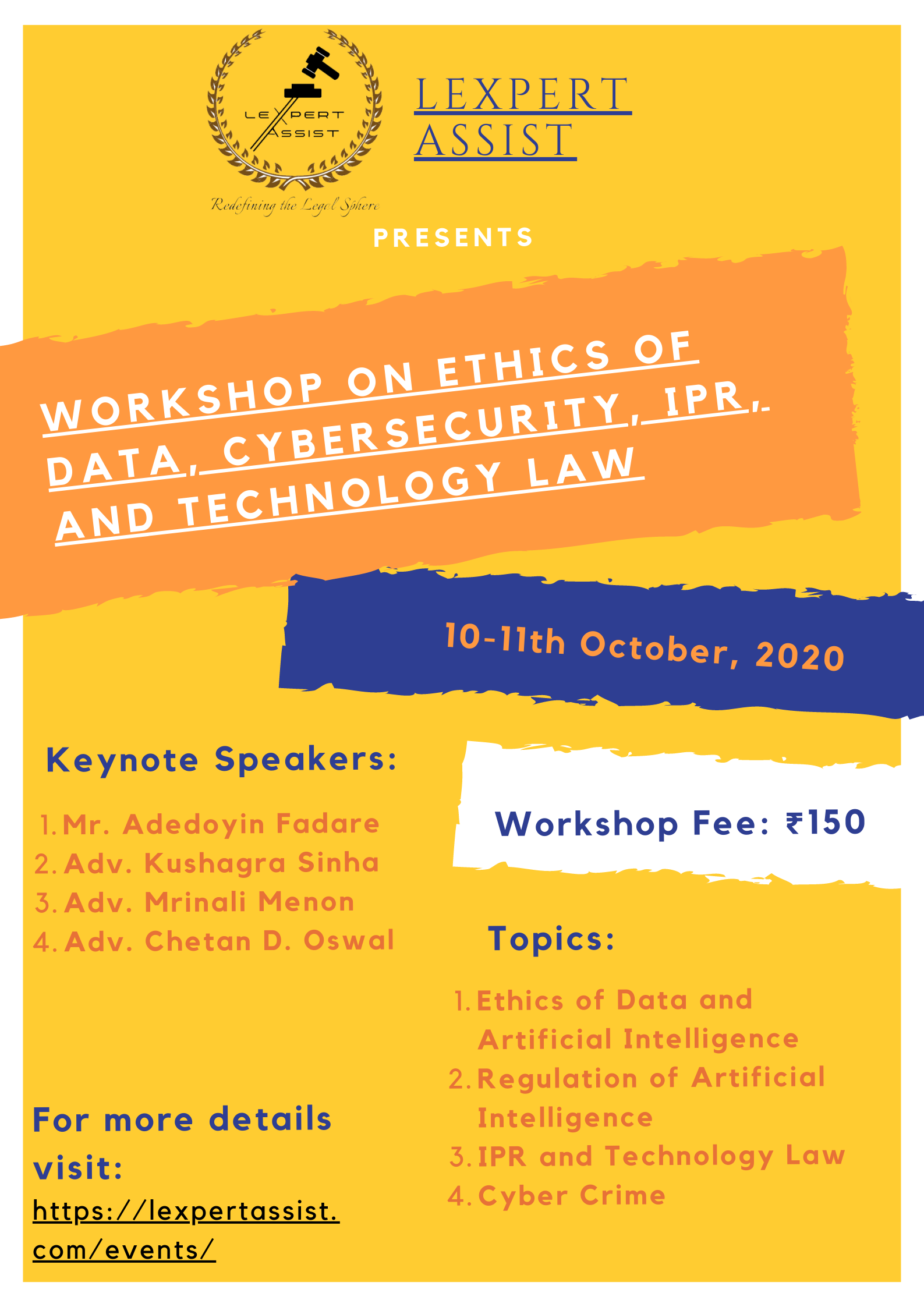 """Workshop for law students 