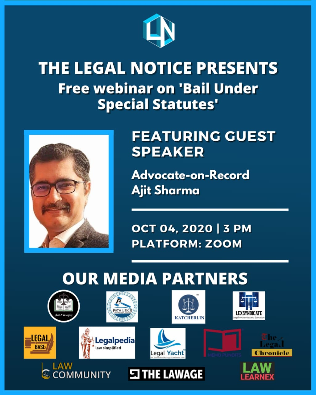 Free Webinar for Law Students | Bail Under Special Statutes by The Legal Notice