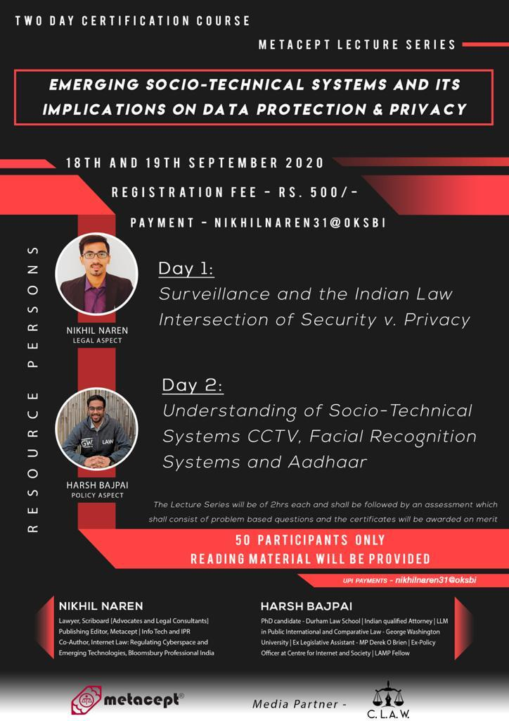 Lecture Series for law students on IPR by Metacept