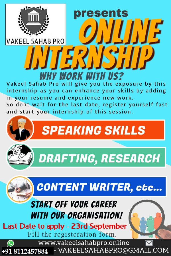 Vakeel Sahab Pro online internship for law students