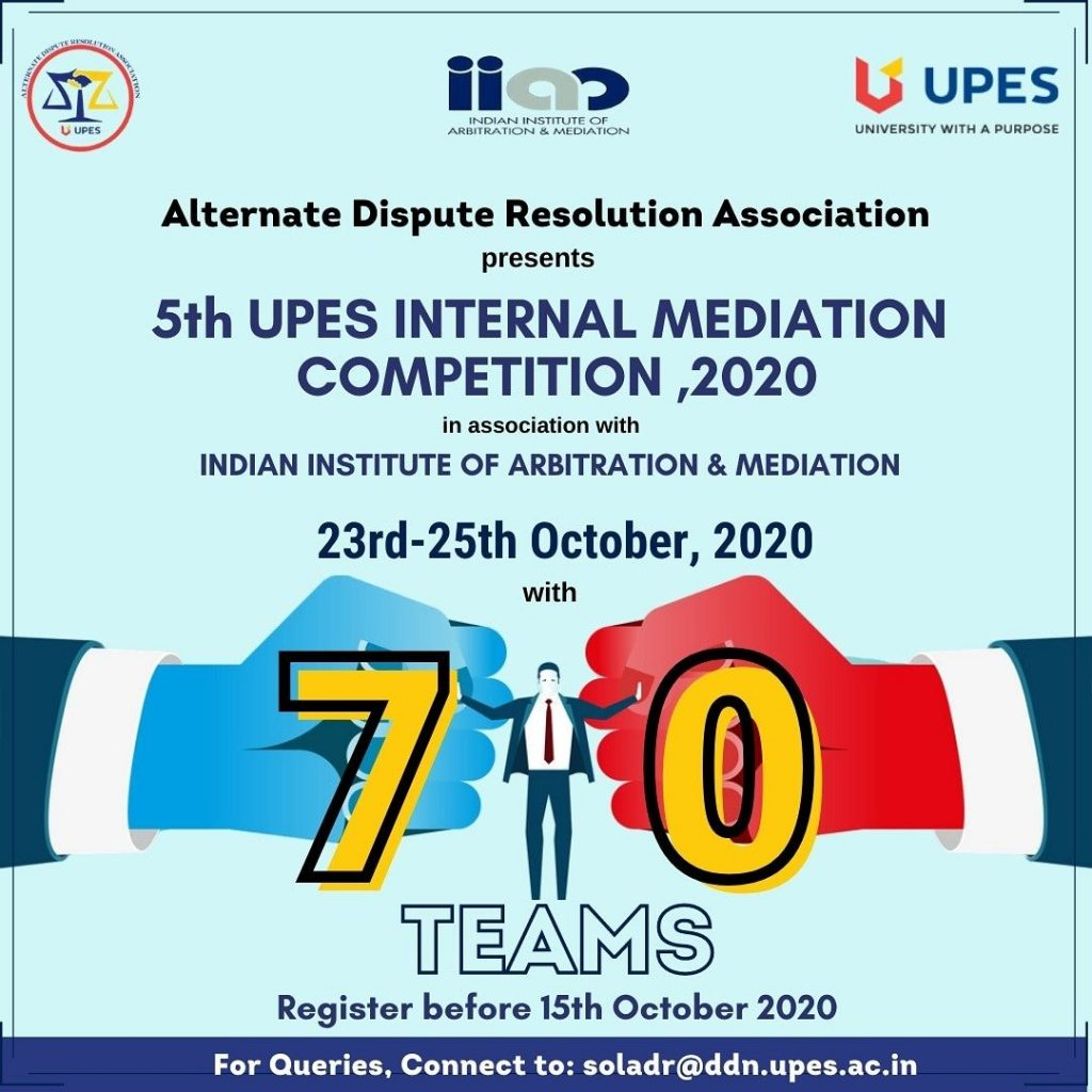 5th UPES Internal Mediation Competition 2020