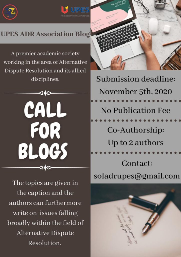 Call for blogs by UPES