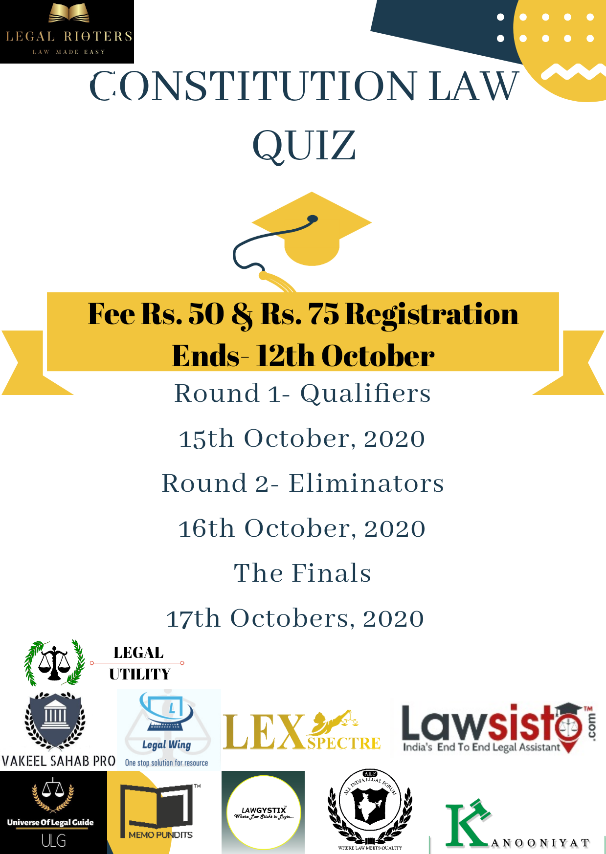 Constitution Law Quiz by Legal Rioters