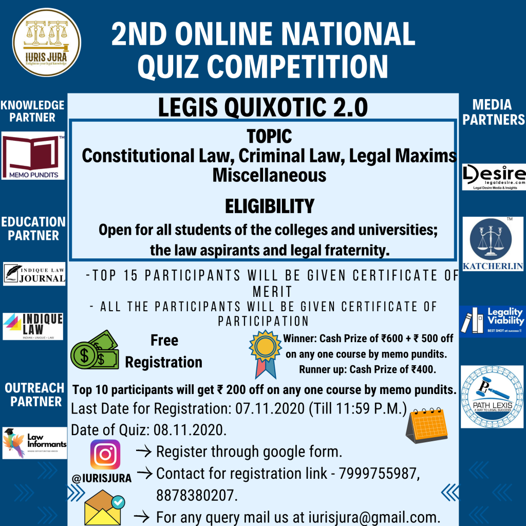 2nd Online National Quiz Competition