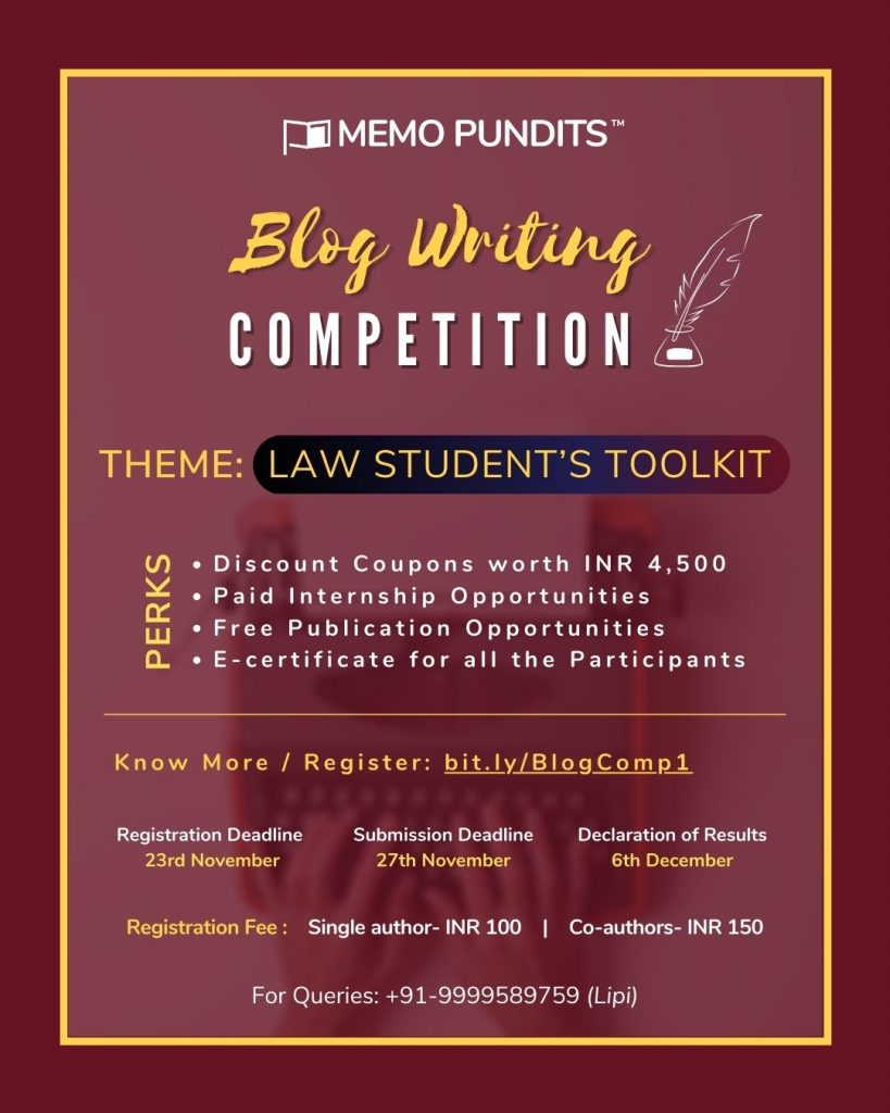 Memo Pundits' Blog Writing Competition
