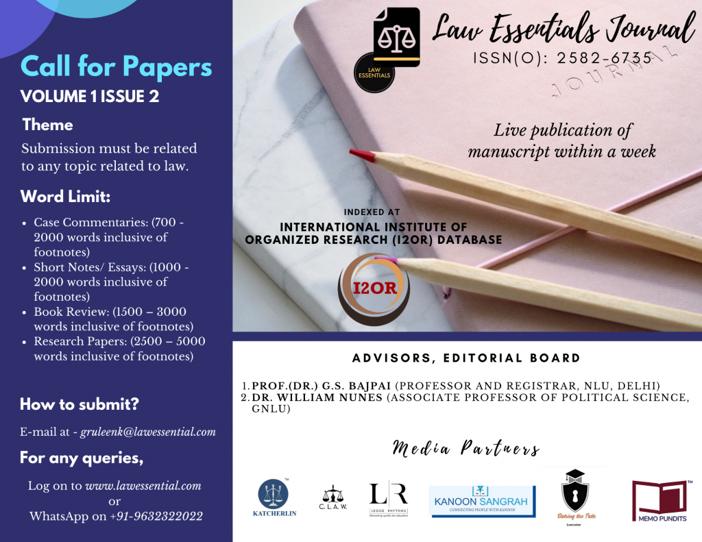 Call for Papers (Volume 1 Issue 2)
