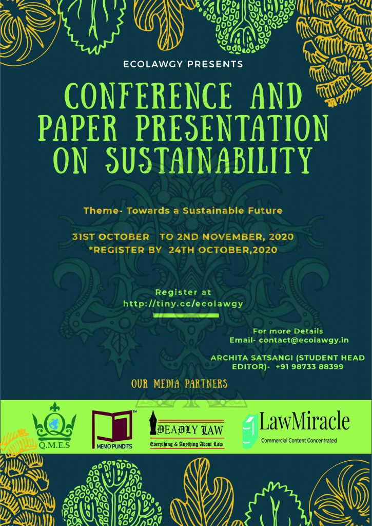 "Conference and Paper Presentation on ""Sustainability"""