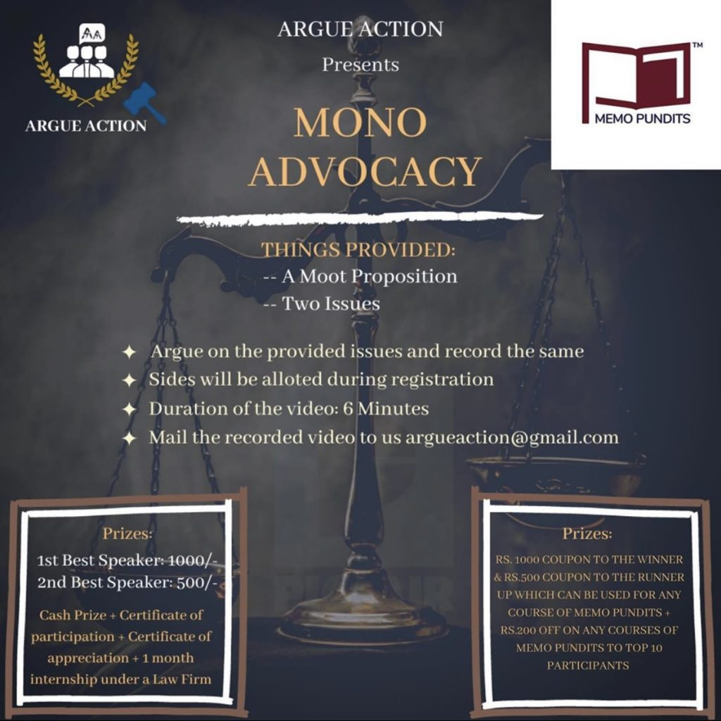 Mono Advocacy by Argue Action