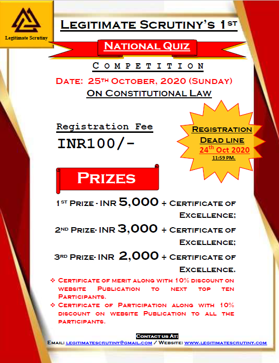 National Quiz Competition on Constitutional Law