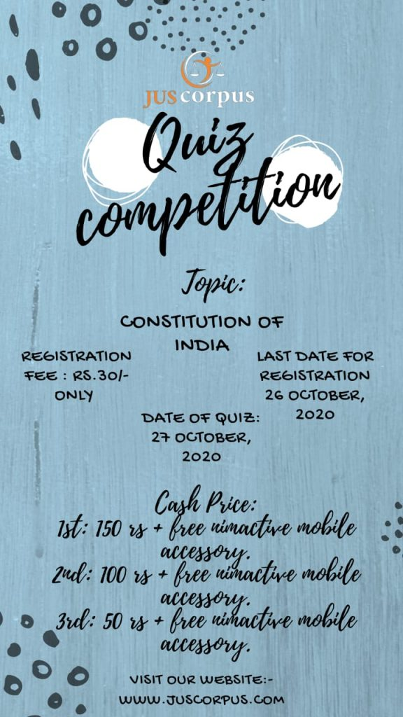 "Quiz Competition on ""Constitution of India"""