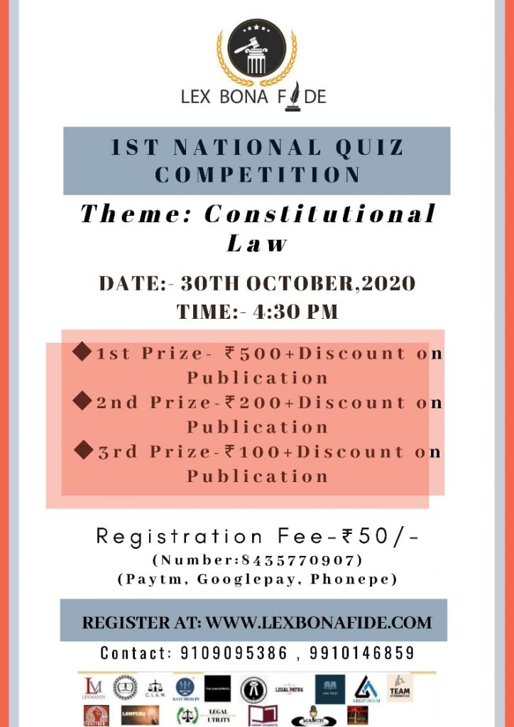 "National Quiz Competition on ""Constitutional Law"""