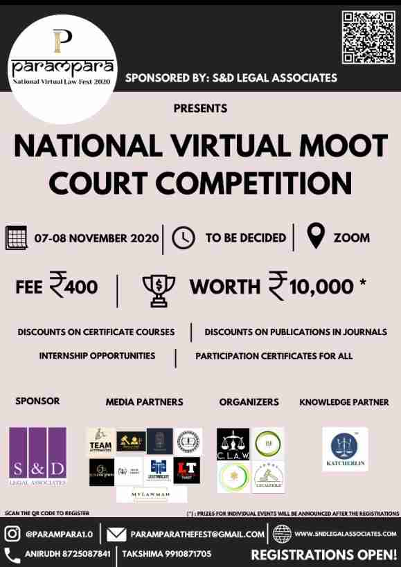 Virtual Moot Court Competition | Parampara