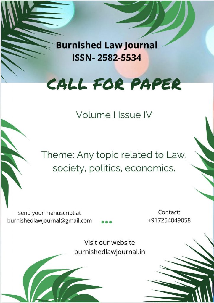 Call For Papers: Burnished Law Journal