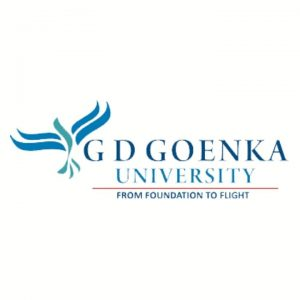 logo of gd goenka university