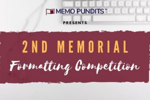 2nd Memorial Formatting Competition 2020- Memo Pundits