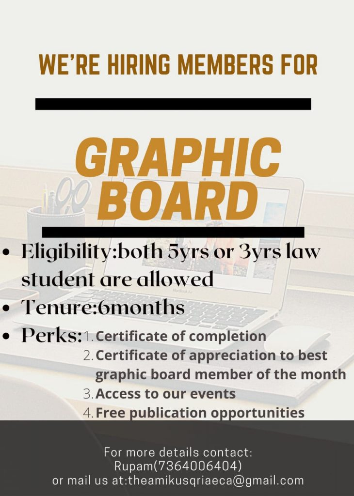 Vacancy for Graphics Board
