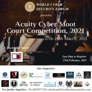 Flyer of Acuity Cyber Moot Court