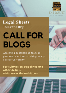 Flyer for Call for Blog by The LawKit