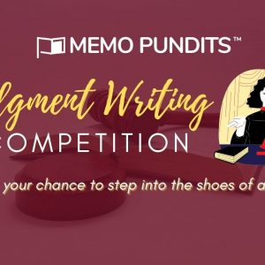 Judgment writing competition by Memo pundits