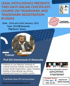 Flyer for the Trademark Course