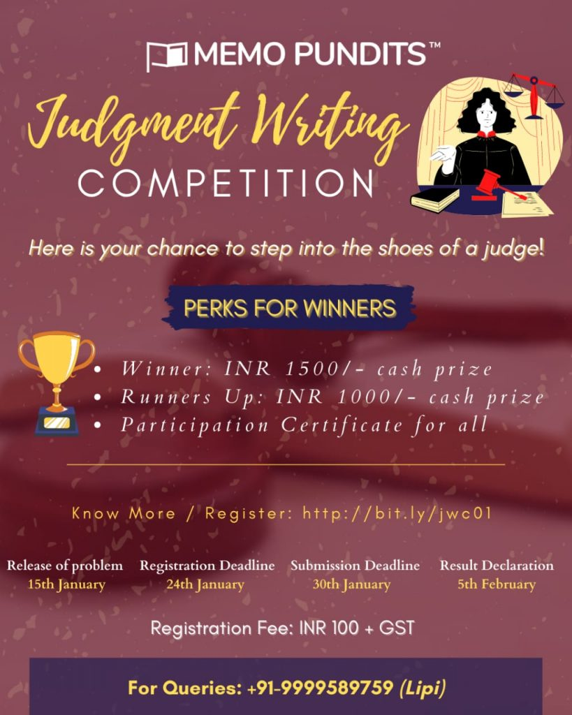 Judgment Writing Competition