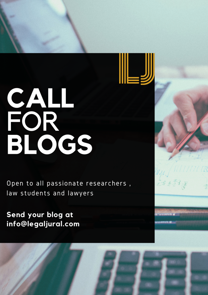 call for blogs by legal jural