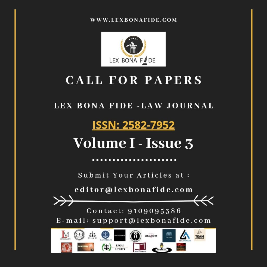 Call for papers by lex bona fide law journal