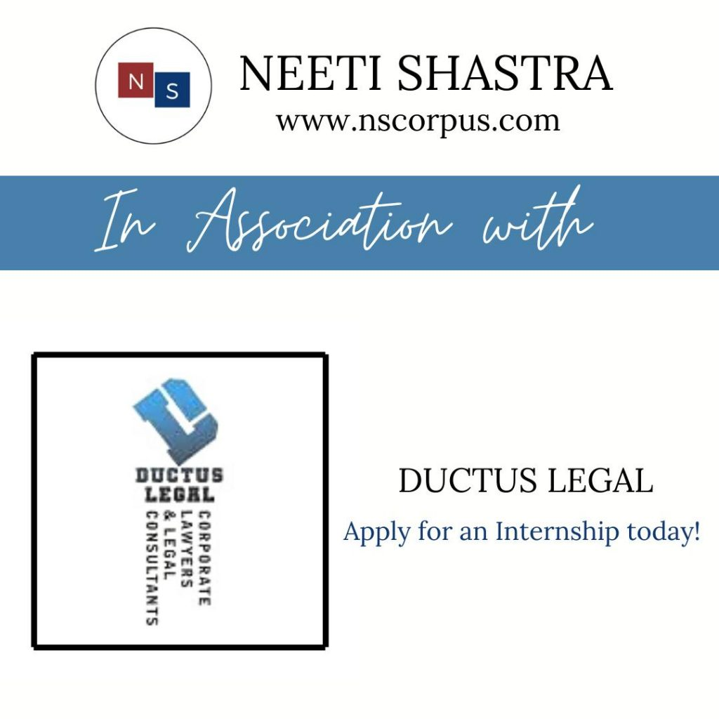 Internship Opportunity with Ductus Legal