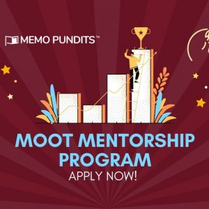 Get Mentored for your Next Moot - Memo Pundits' Moot Mentorship Program