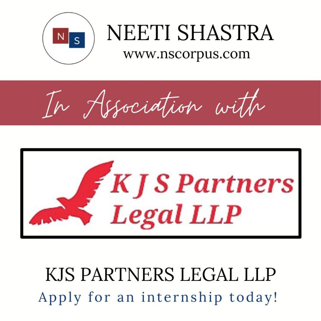 Internship Opportunity with KJS Partners Legal LLP