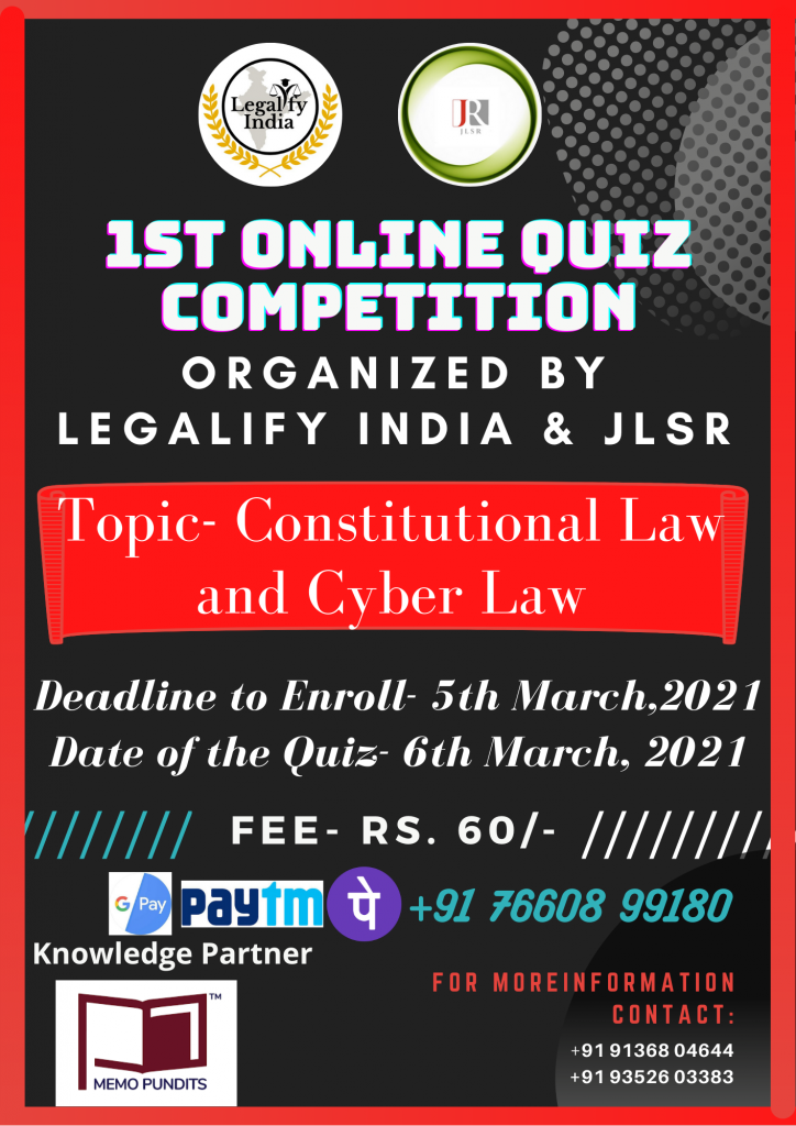 Online Quiz Competition by Legalify India