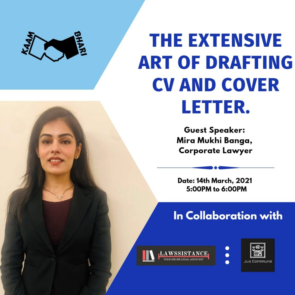 CV and Cover Letter workshop by kaam bhari cell