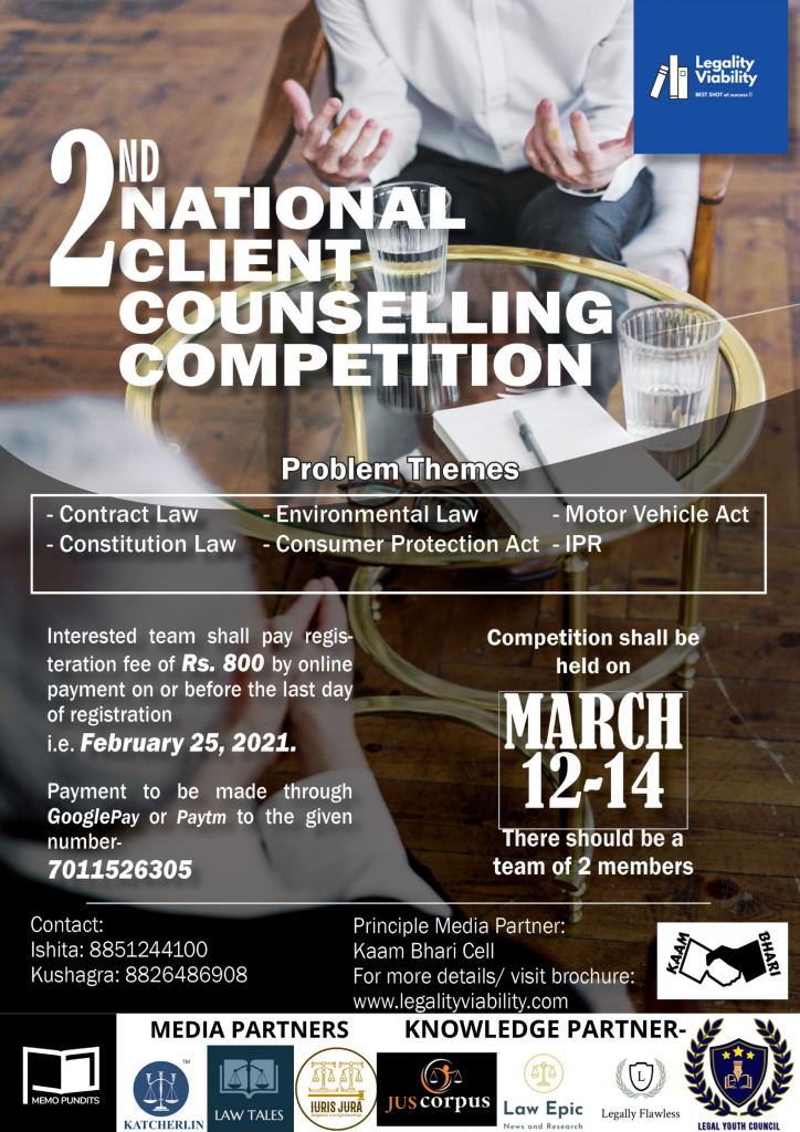2nd National Client Counselling Competition