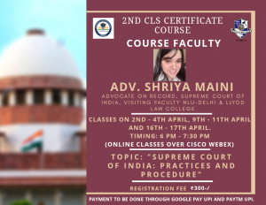 2nd CLS Certificate Course