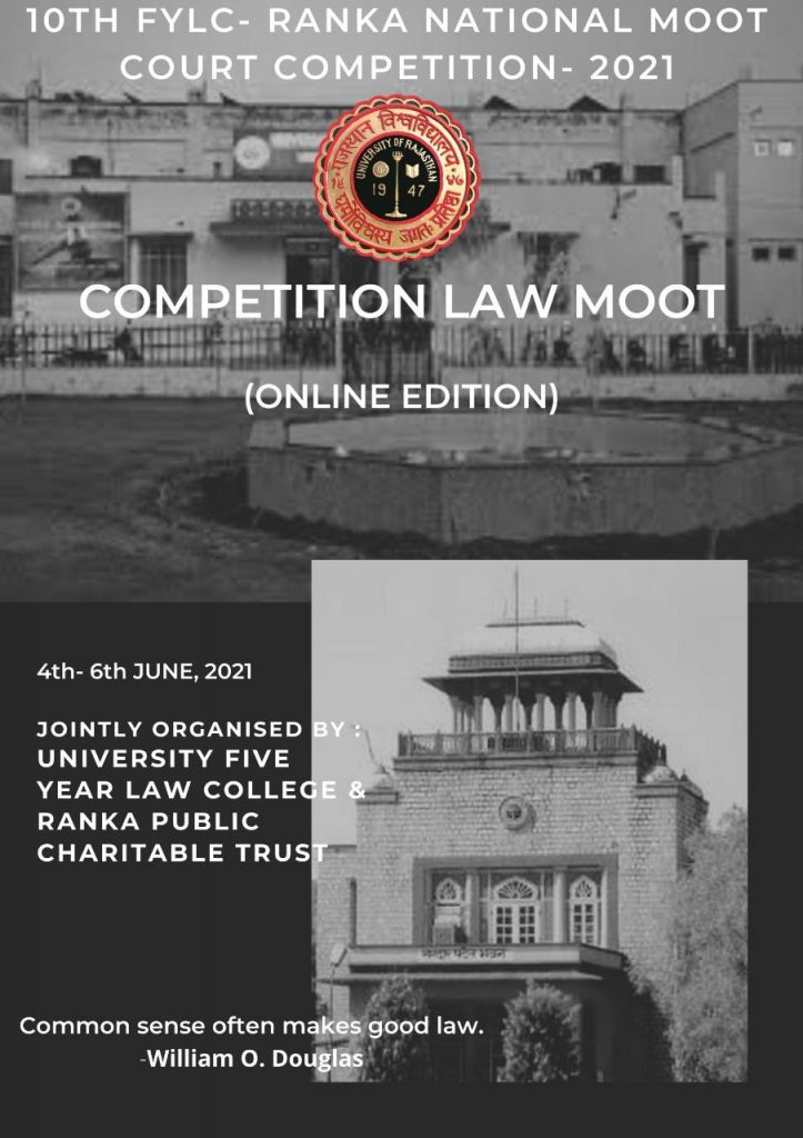 10th FYLC Ranka National Moot Court Competition, 2021