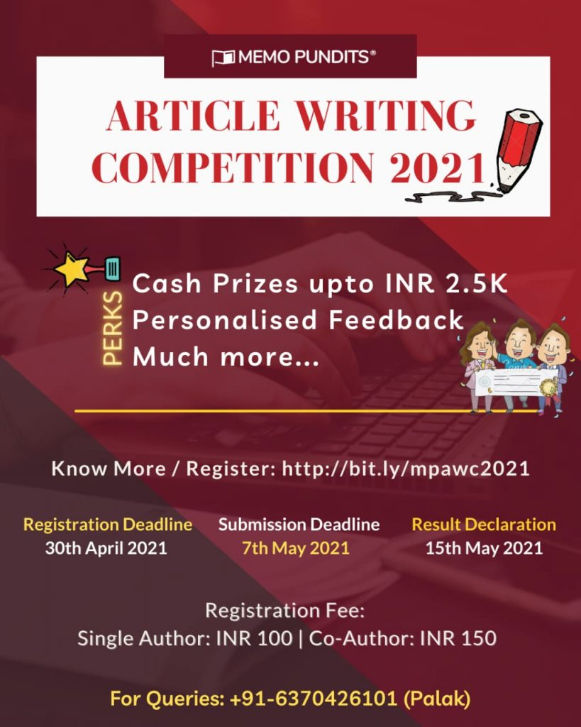 Article Writing Competition 2021