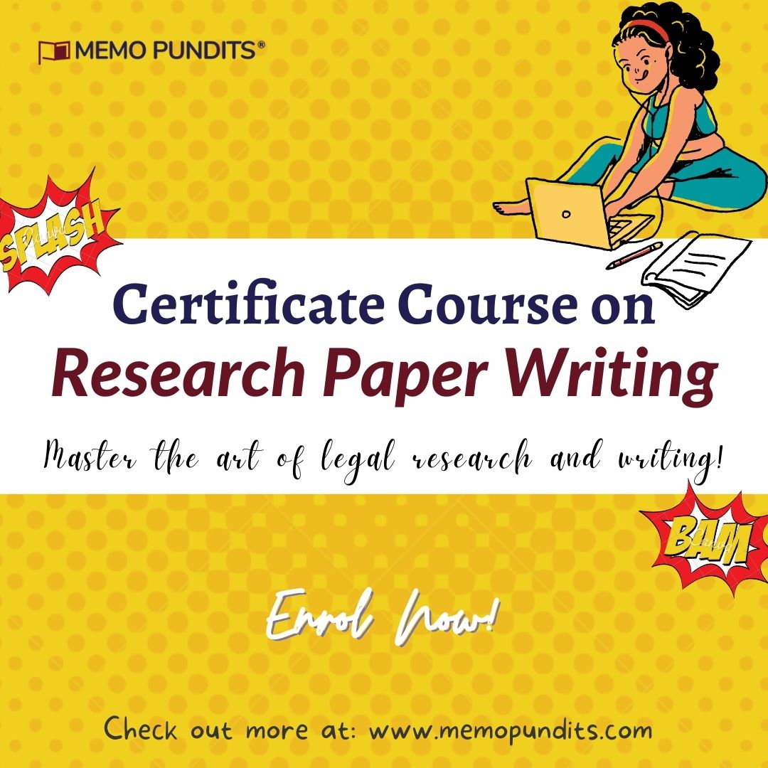 Research paper Writing Course by Memo Pundits