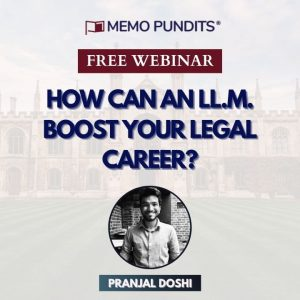 Webinar on 'How can an LL.M. boost your Legal Career?'