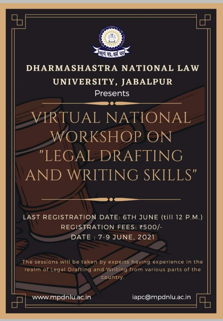 National Workshop on 'Legal Drafting and Writing Skills'