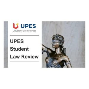 Logo of UPES Student Law Review